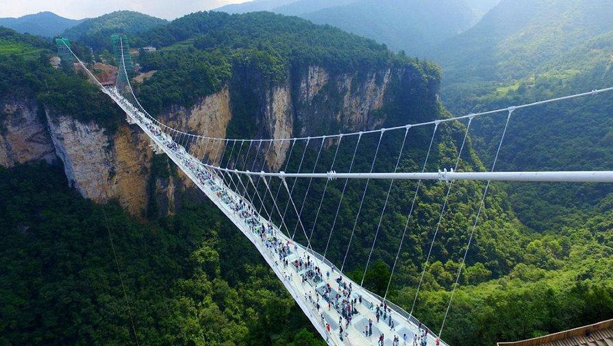 уникальный мост национальном парке в провинции Хунань