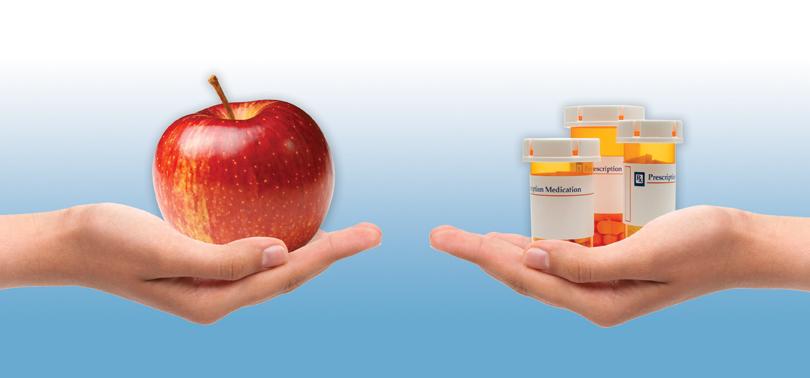 яблоко против лекарств